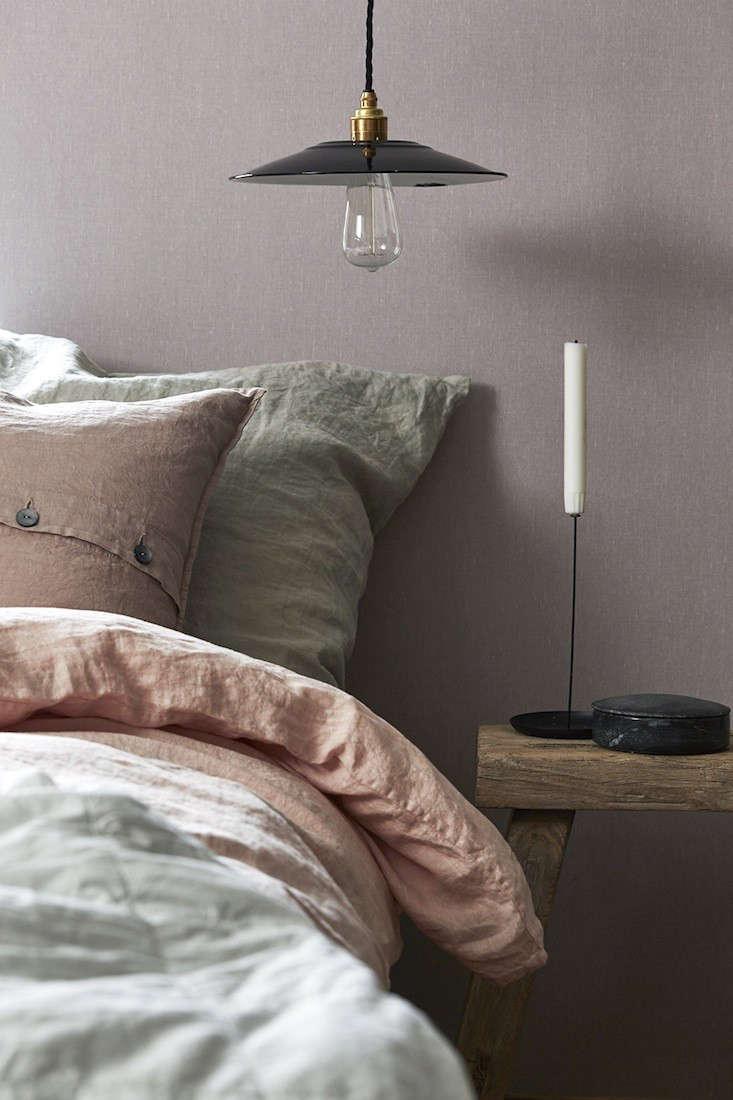 Borstapeter Linen Lavender Blush Remodelista