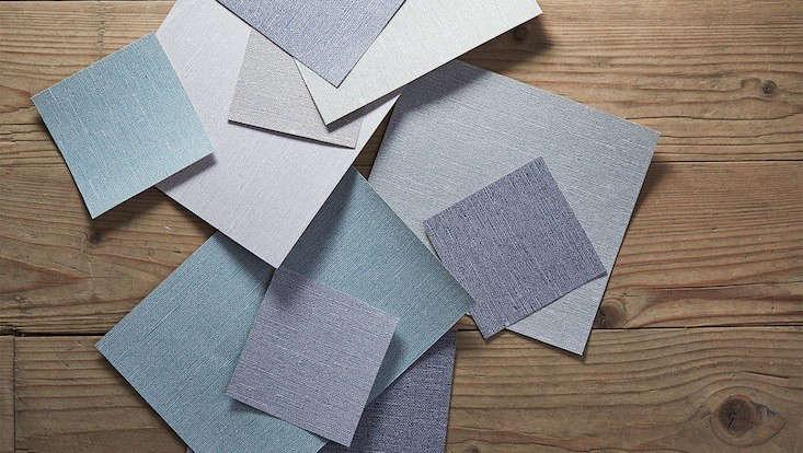 Borstapeter Linen samples Remodelista