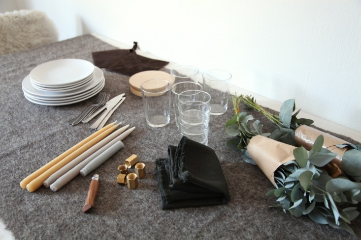 Steal This Look A NordicInspired Holiday Table DIY Candelabra Included portrait 3_13