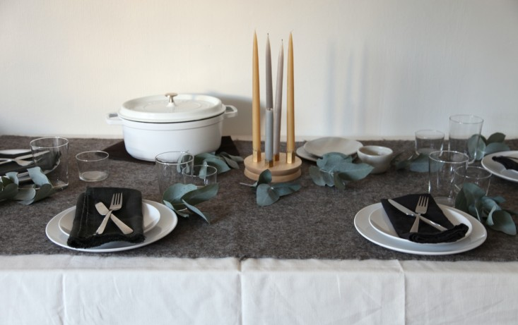 Steal This Look A NordicInspired Holiday Table DIY Candelabra Included portrait 3_12