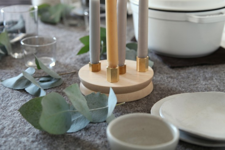 Steal This Look A NordicInspired Holiday Table DIY Candelabra Included portrait 3_15