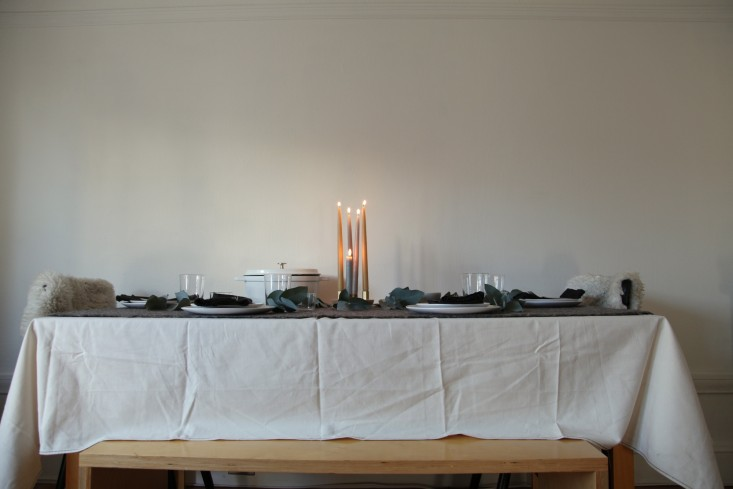 Steal This Look A NordicInspired Holiday Table DIY Candelabra Included portrait 3_11