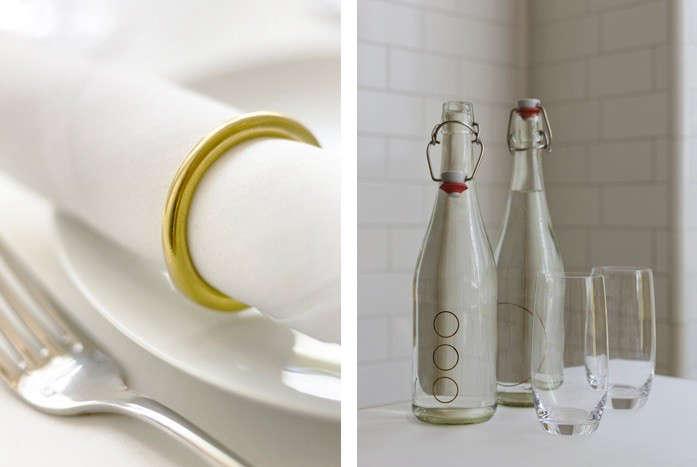 Brass ring napkin holder Nopi Remodelista