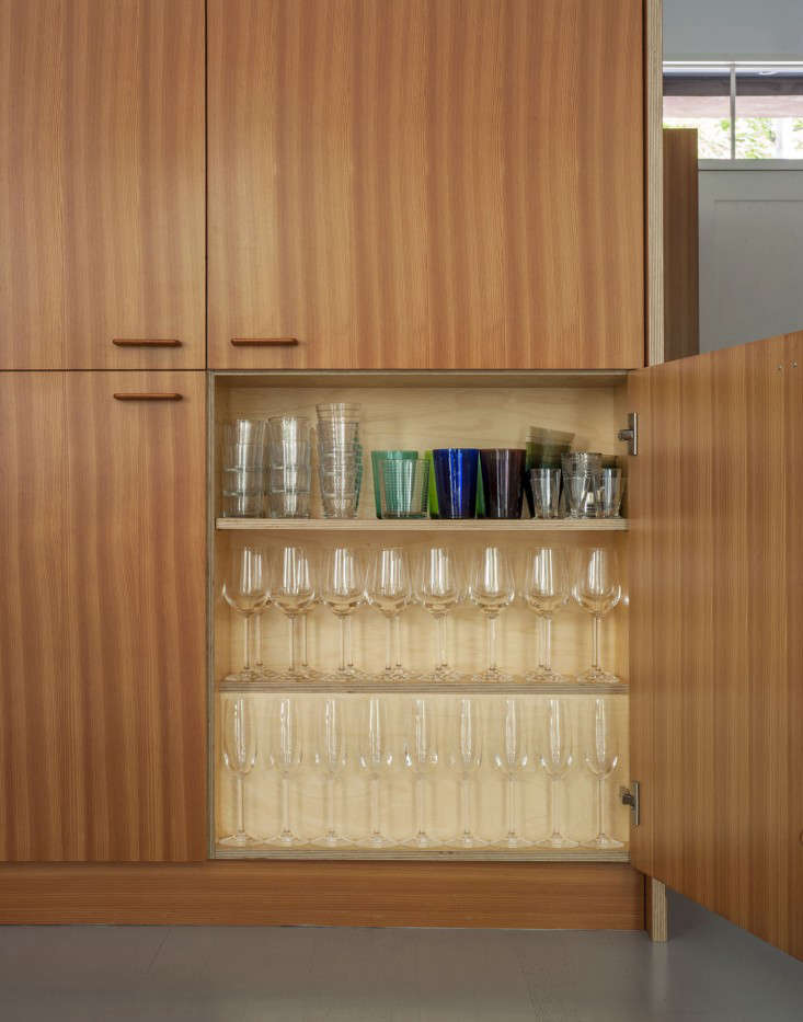 Custom Douglas fir kitchen cabinet in a Brooklyn-town-house-remodel by Fernlund-and-Logan | Remodelista