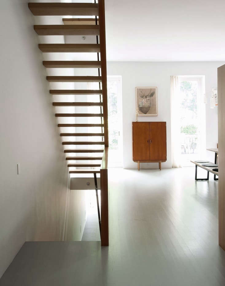 a new wood staircase in the remodel of an \1840s brooklyn brownstone by archite 12