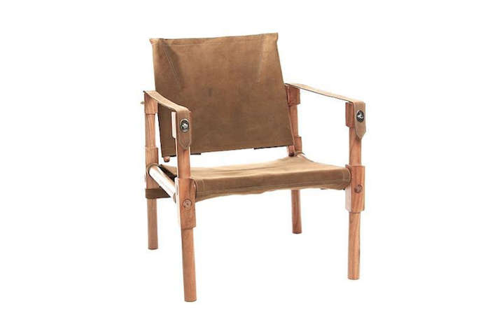 Campaign Chair and Ottoman