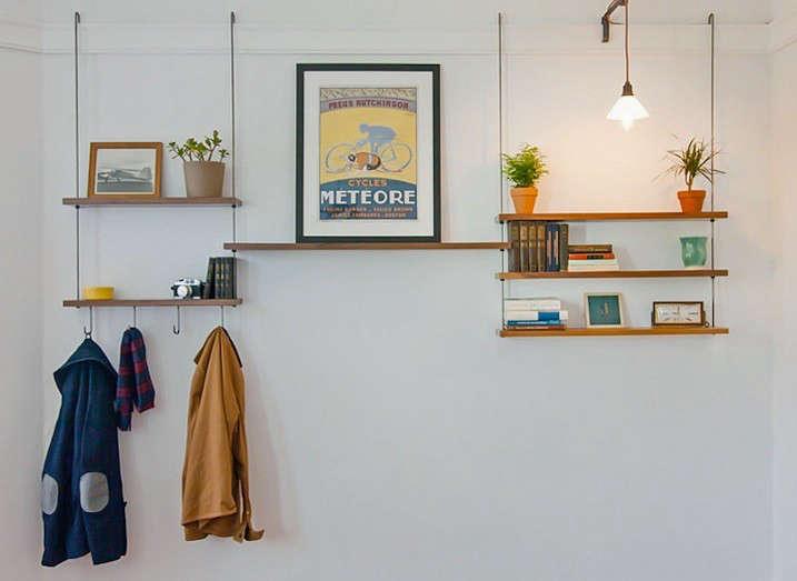 Instant Storage Hanging Shelves Made in San Francisco  portrait 3