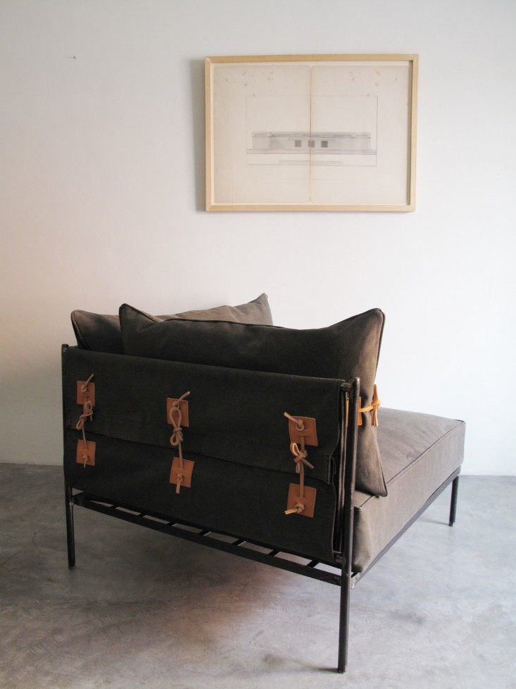 IndoorOutdoor Furniture Made from Salvaged Waxed Canvas portrait 5