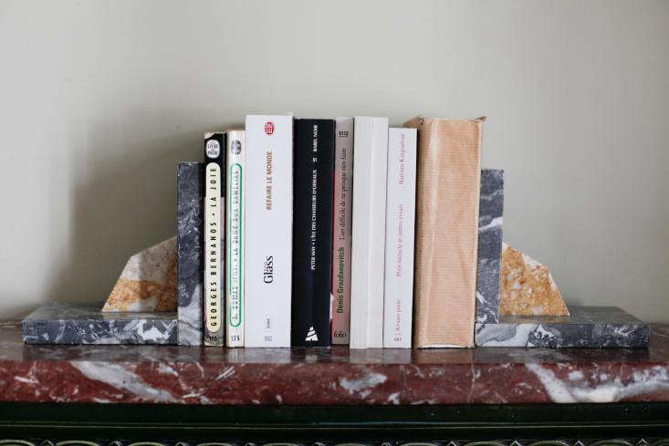 Marble scraps as bookends inDone/Undone with Clarisse Demory in Paris.