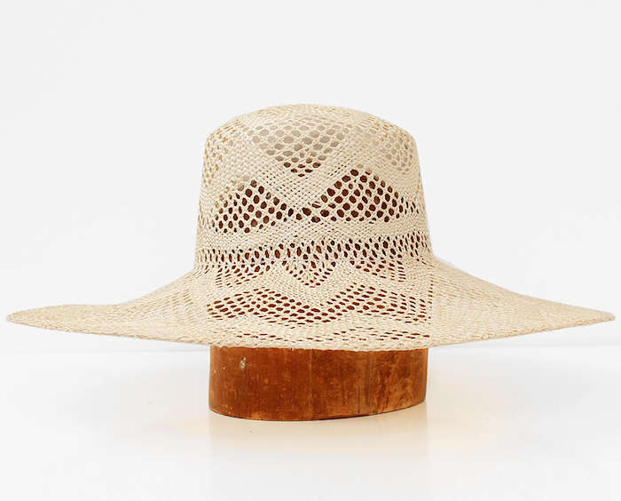 Clyde Lace Straw Hat Natural