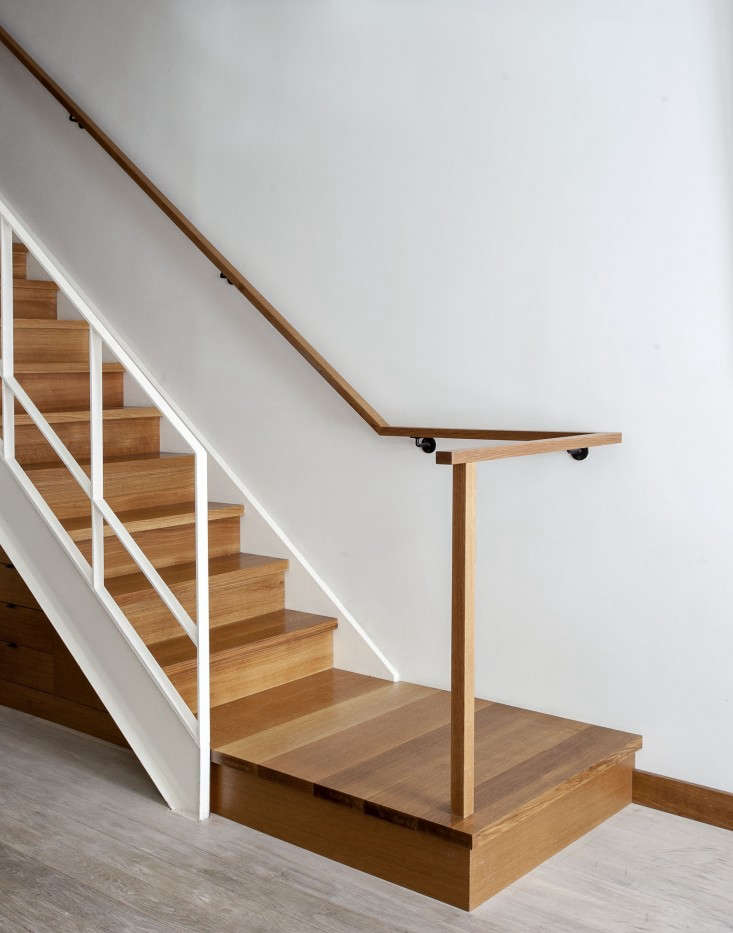 a wood staircase in a converted mid \19th century church rectory in cobble hill 10