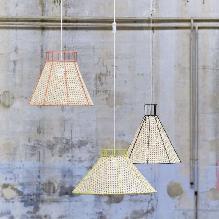 Colonel France straw pendant lamps Remodelista