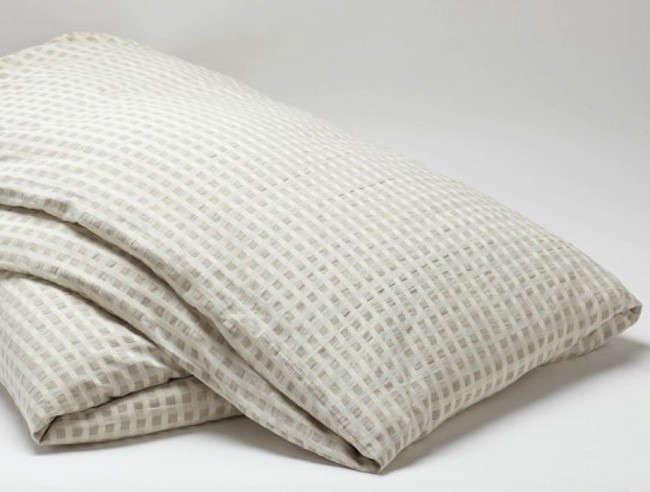 Cotton Linen Birch Duvet Cover