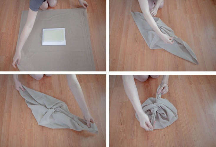 A simple, step-by-step furoshiki wrap.