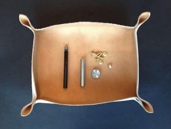 DIY Leather Tray by Izabella Remodelista3