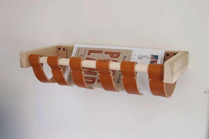5 Favorites DIY Magazine Racks Made from Leather Straps portrait 6