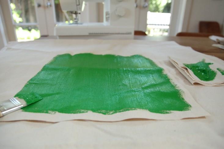 DIY Painted Canvas Tissue Box Cover portrait 5