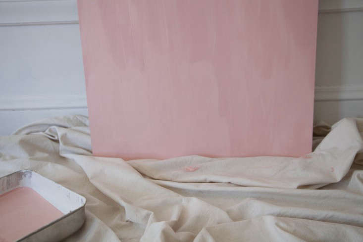 step 3: i used two coats of paint to get a deep eraser pink. i decided to paint 14