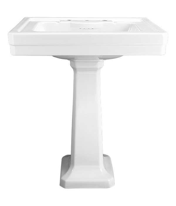 DXV American Standard Fitzgerald Pedestal Bathroom Sink Remodelista