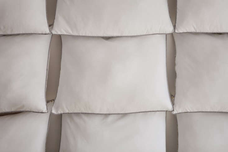 To created a tiered effect–and make the grid come out evenly–the pillows are slightly overlapped.