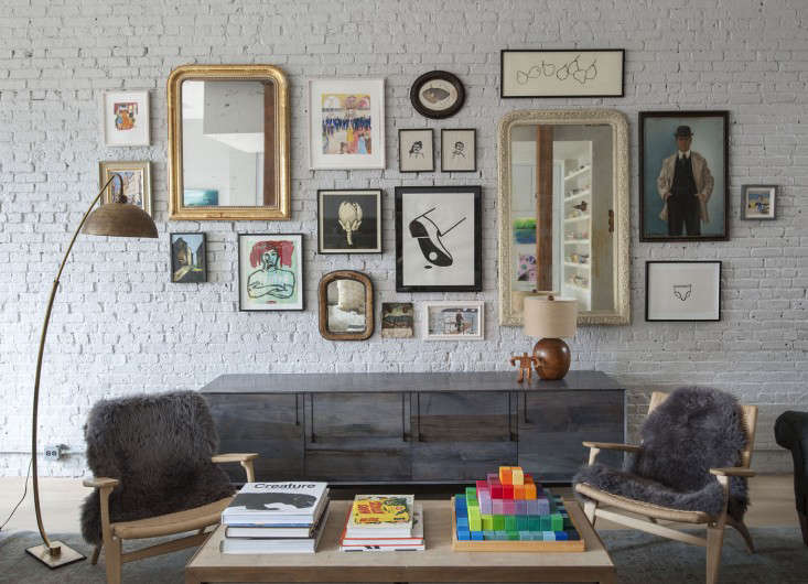 A Whimsical Family Loft in Brooklyn Whale Wallpaper Included portrait 7