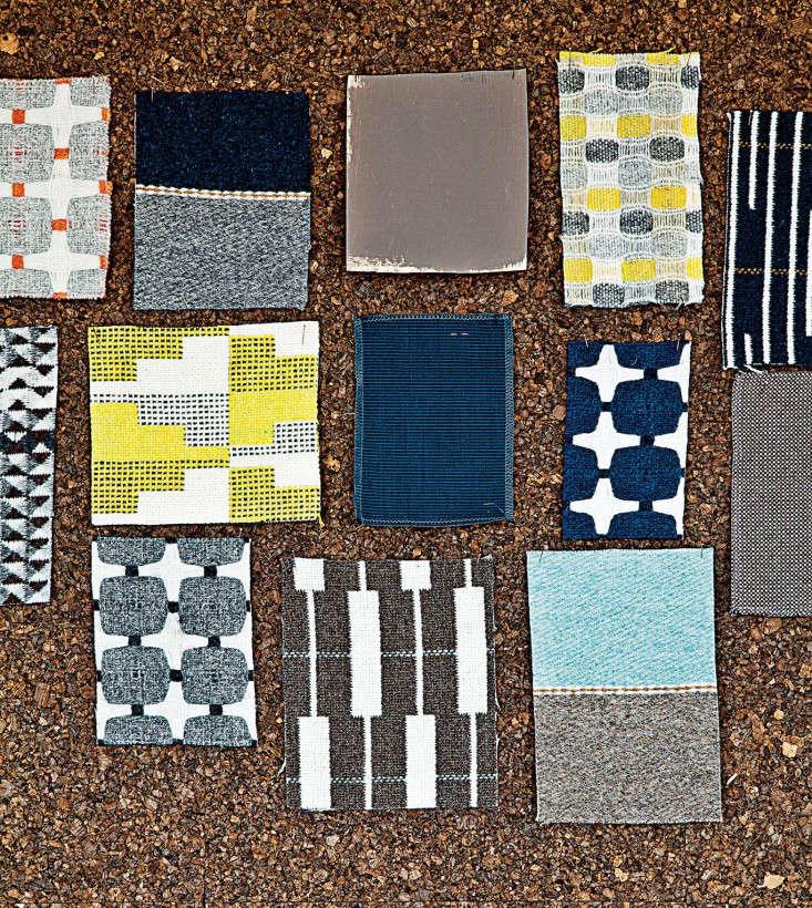 Eleanor Pritchard fabric samples via Dwell Remodelista