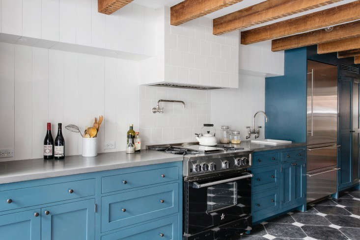 A kitchen for two avid cooks by Elizabeth Roberts Design/Ensemble Architecture has a Bluestar range. (See more of the kitchen in Indoor/Outdoor Living, Brooklyn Style.) Bluestar&#8