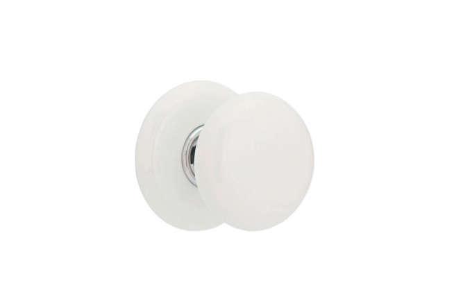 Emtek Ice White Door Knob Set