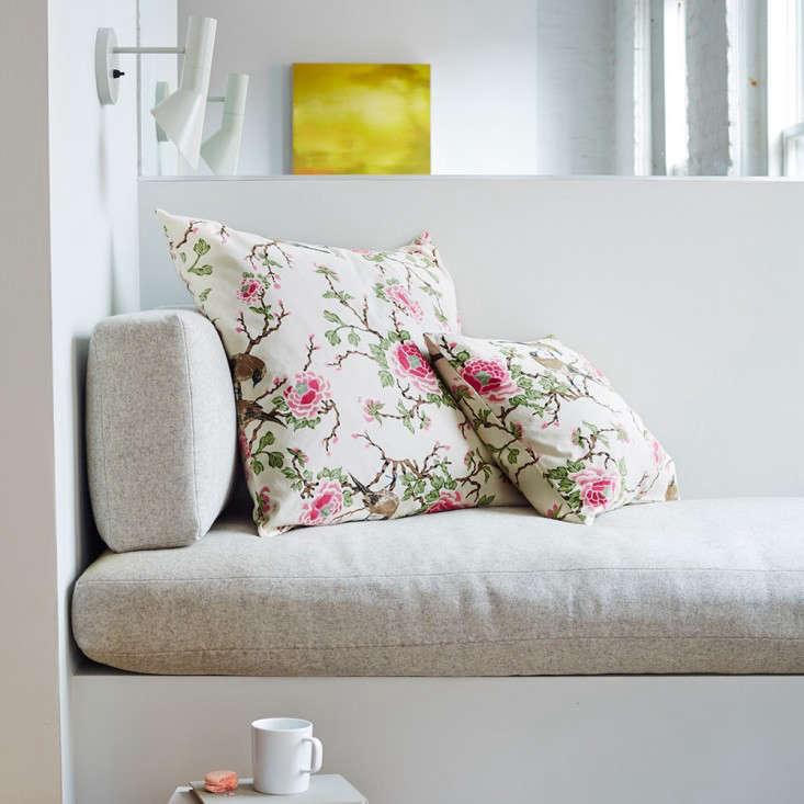 Erica Tanov throw pillow love bird square Remodelista