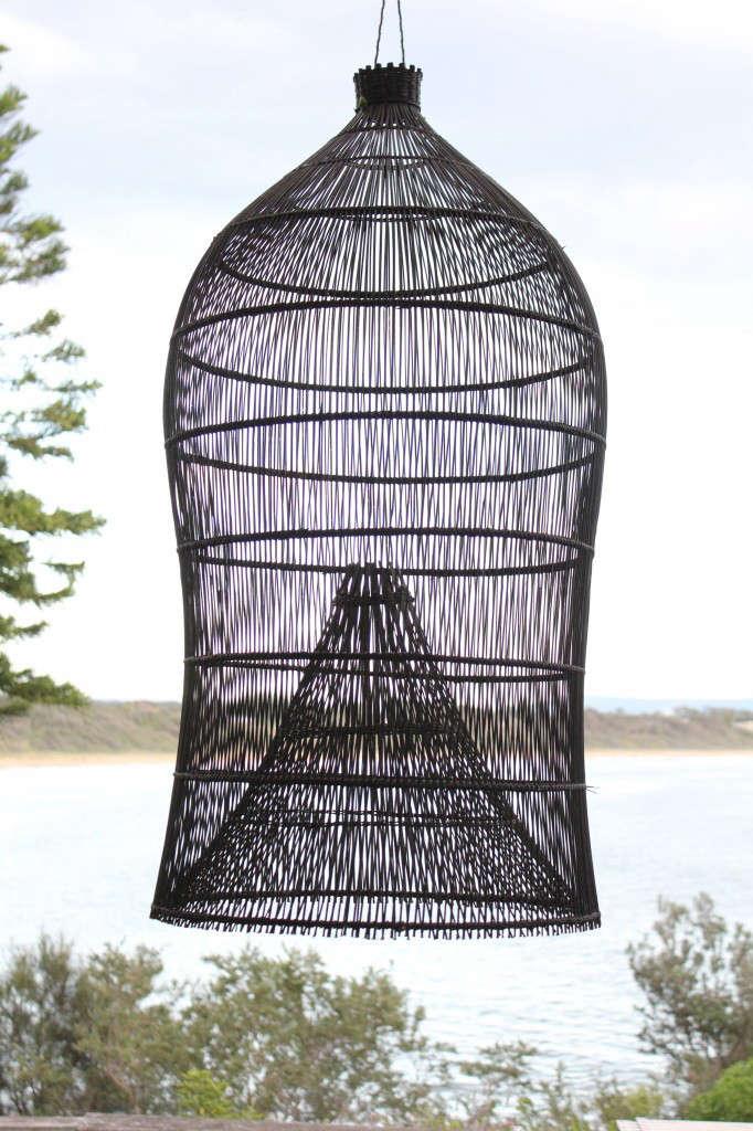 Net Gains 5 Fishing Baskets as Sculptural Lights portrait 4