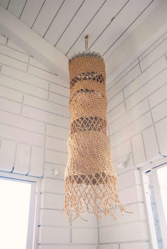 Net Gains 5 Fishing Baskets as Sculptural Lights portrait 6