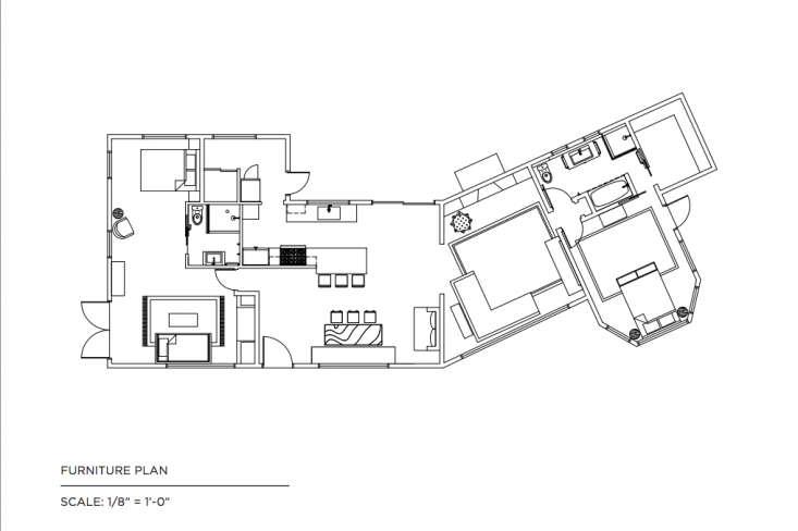 Floor plan Malibu house remodel Lauren Soloff Remodelista