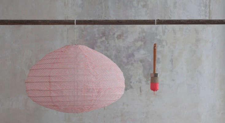Fluoro khadi fabric lanterns lost and found Remodelista