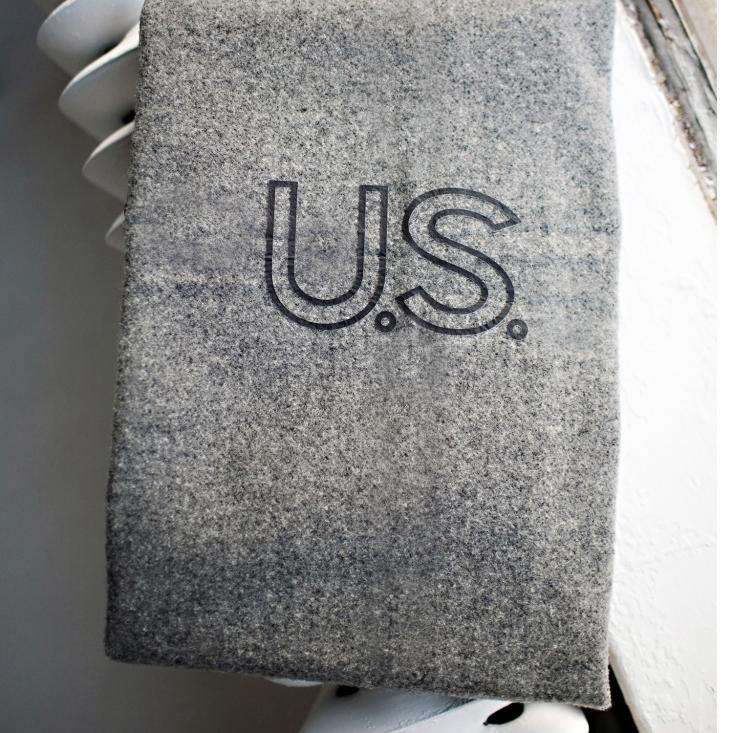 Foot Soldier Military Wool Blanket