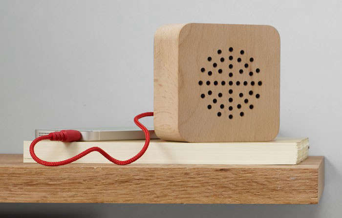 Formnation Wood Speaker In situ MOMA Remodelista