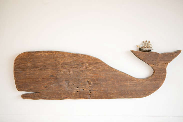 Rehab Diary The Ultimate Houseboat in NYC Every boat needs a whale; this one came from Gabe&#8\2\17;s grandmother&#8\2\17;s house and was likely once used a serving board. (For a similar wooden whale, see our post onSir/Madam&#8\2\17;s Nostalgic Tableware.)