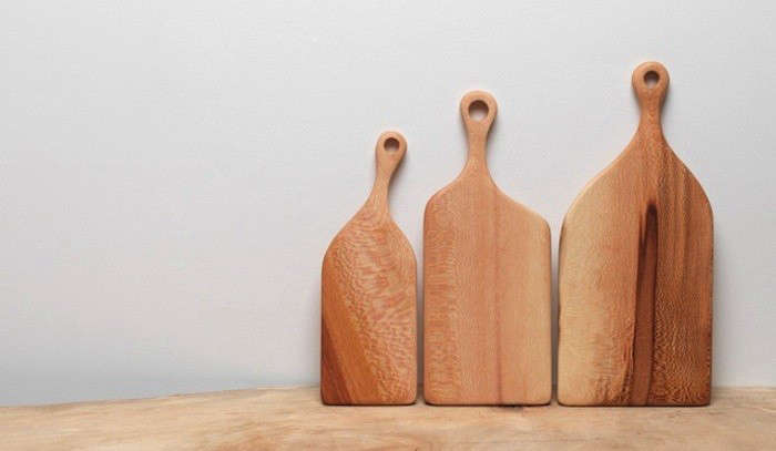 10 Easy Pieces Wooden Cutting Boards with Cutouts for Hanging portrait 7