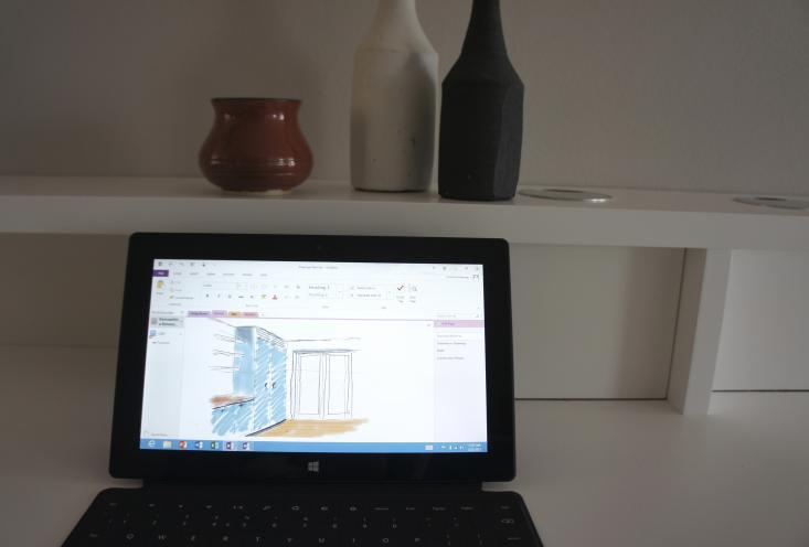 Hanway Surface Tablet Sketch