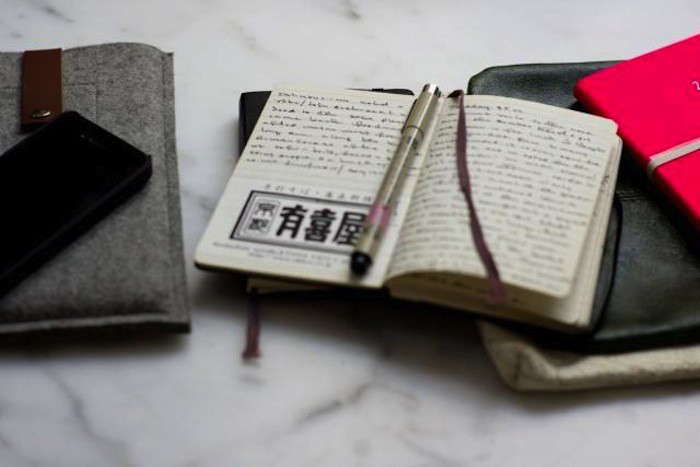 heidi swanson of \10\1 cookbooks plans her trips in a moleskine notebook.see  9