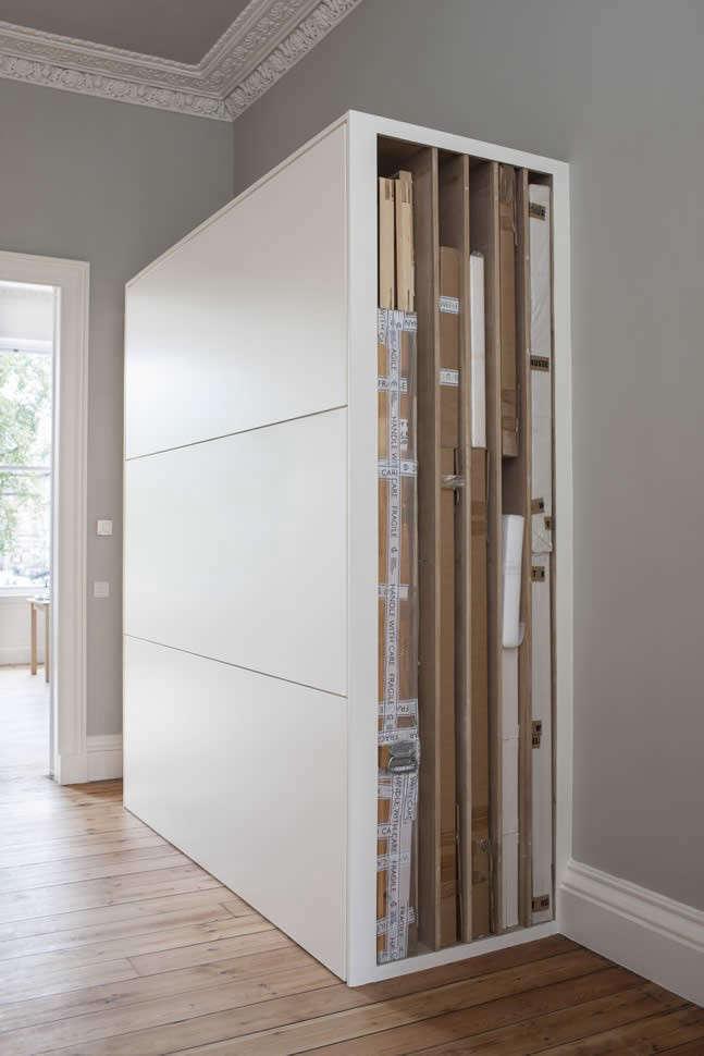 Helen Lucas Architects Alison Watts Studio art storage Angus Bremner Remodelista