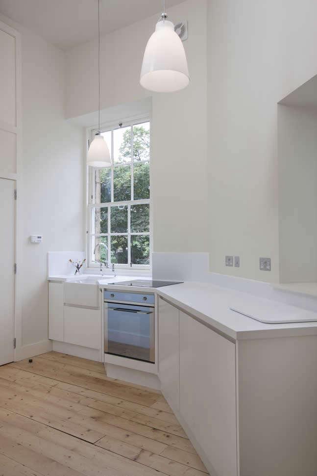 Helen Lucas Architects Alison Watts Studio white kitchen Angus Bremner Remodelista