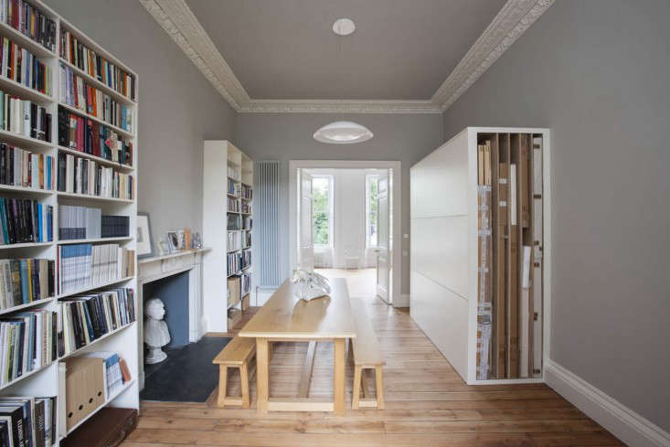 Helen Lucas Architects Alison Watts Studio with table Angus Bremner Remodelista