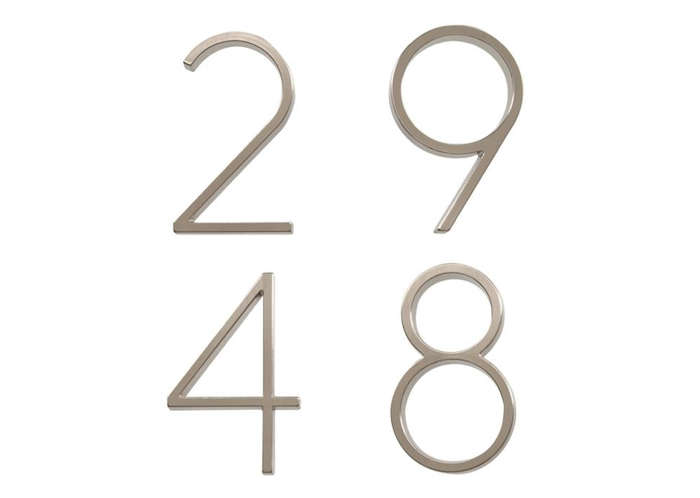 HighLow Modern House Numbers portrait 4