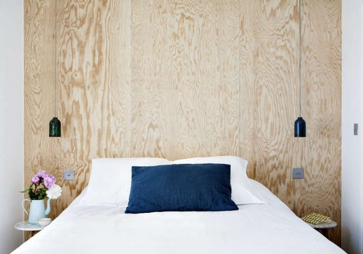 At Hotel Henriette in Paris, headboards are made of plywood, some of which are fancifully-painted. See The Très DIY Hotel Henriette in Paris (Starting at $97 a Night).