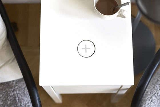 Ikea wireless charging side table Remodelista 9