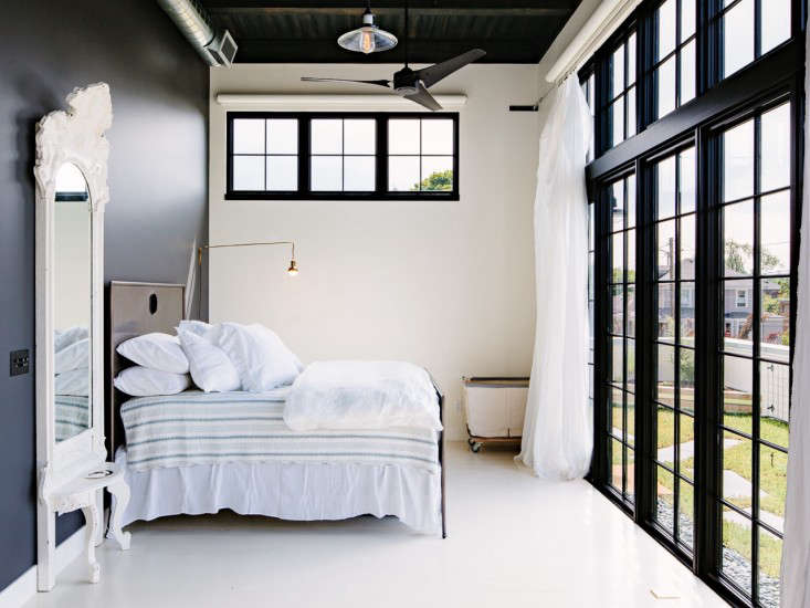 Industrial Portland loft bedroom Remodelista
