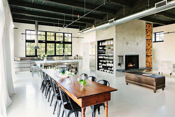 Industrial Portland loft dining room Remodelista