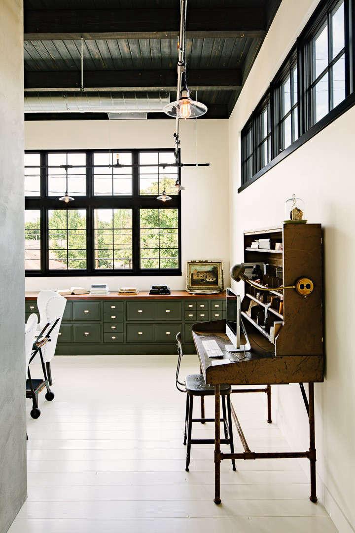 Industrial Portland loft vintage desk Remodelista
