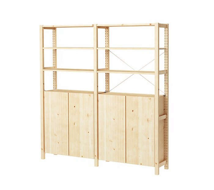 HighLow Wooden Bookcase with Cabinets portrait 5