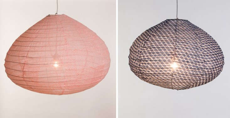 Japanese fabric lanterns pair lost and found Remodelista